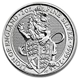 純銀 62.2グラム イギリス 紋章 ライオン クィーンズ ビースト 5ポンド 2016年 2 オンス 銀貨 62.2g シルバー コイン インゴット (¥ 7,499)