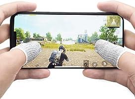 荒野行動 PUBG Mobile スマホゲーム 手汗対策 超薄 銀繊維 4個入り 指カバー 反応早い 指サック 操作性アップ 携帯ゲーム iPhone/Android/iPad スマホ対応