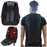 Motorcycle Backpack Waterproof Hard Shell Backpack - Carbon Fiber Motorbike Helmet Backpack Waterproof 30L Large Capacity - R