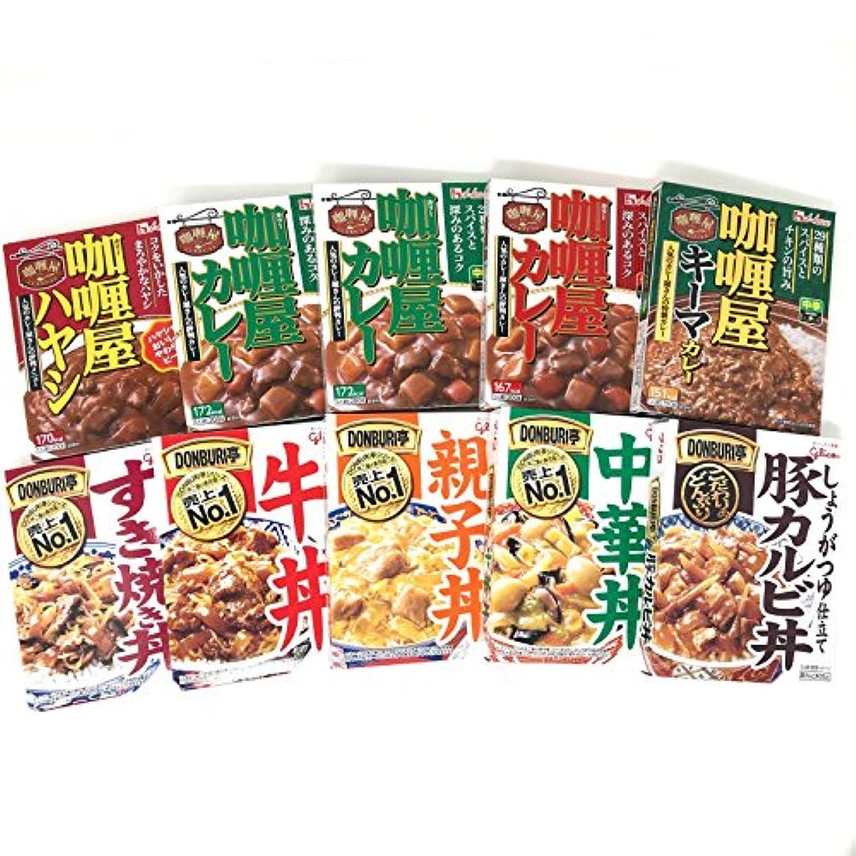 大事にする笑いスープカリー屋カレー&どんぶり亭アソートセット10食シリーズ1