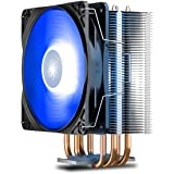 DEEP COOL GAMMAXX400V2 Blue CPU Air Cooler with 4 Heatpipes, 120mm PWM Fan and Blue LED for Intel/AMD CPUs (AM4 Compatible) (