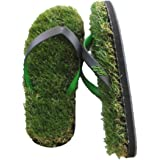 GFF Grass Flip Flops Small (7.5-9) Black Green