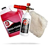 Adam's Foam Cannon Car Wash Kit - Produces Thick, Luxurious Foam - Plush, Synthetic Wool Pad Ensures a Swirl and Scratch Free
