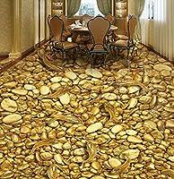 Wapel 壁画の 2990 d 壁紙カスタム サイズ 3 D 壁紙ゴールドフィッシュ絵画壁画現代カスタム 3 D フロアー リング壁画金石 3階 Pvc ステッカー 430x300cm