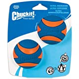Chuckit! Ultra Squeaker - 2pk, Blue & Orange, Medium