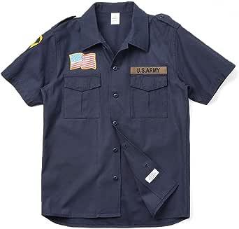 HOUSTON ヒューストン 40301 S/S U.S.ARMYワッペン ミリタリーシャツ