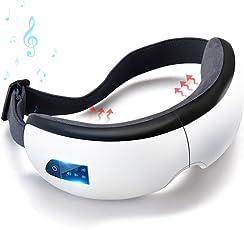 コノビヤ 目元マッサージャー 目マッサージ器 目元美顔器 USB充電 温め機能 音楽機能 Bluetooth タイマー設定 5モード 振動 気圧アイエステ 多周波振動 目元 ヒーター ホットアイマスク180度二つ折り 通気性 疲労 癒し 血行促進 安眠 日本語説明書