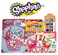 Shopkinsジャンボand Giant Coloring Book with Elmers Washable Watercolors and 36Playskool明るい色クレヨン