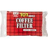 カリタ Kalita コーヒーフィルター ホワイト NK101濾紙 1~2人用 100枚入り #11105