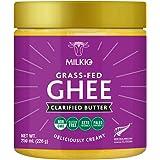 Milkio 100% Grass fed Ghee, New Zealand Made 250 mL, Pasture Raised Clarified Butter Fat, Keto, Paleo, Lactose Free, Casein F
