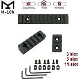 【3本入り】M-LOK グローバル マウント レール レイル セット サバゲー マウント mlok Aluminum Rail 3/5/11スロット アルミニウム合金製