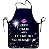 Lily's Rossne Apron for Women and Men Makeup Keep Calm for Chef Kitchen Cooking Aprons BBQ Bib Apron Great Gift - Accept Cust
