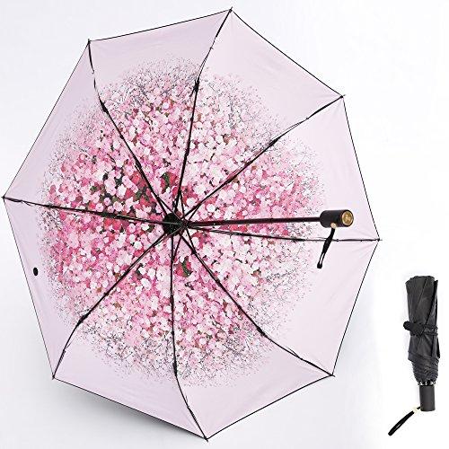 桜Beauty life日傘 軽量 折りたたみ傘 レディース用傘 晴雨兼用 8本...