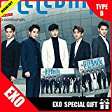 【B TYPE】1月号(2015)/ The celebrity(セレブリティ)表紙、画報、インタビュー:EXO10人(40p)/【THE CELEBRITY MAGEZINE】/ EXOスペシャルインタビュー収録+ SPECIAL GIFT