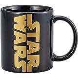 「 スターウォーズ 」 ロゴ ゴールド マグカップ 260ml ブラック SAN2352-1