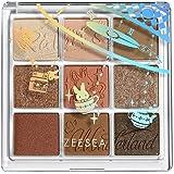 ZEESEAクォーツ アイシャドウパレット9色アイシャドウ(J11キャラメルクリ)高発色 持続する 独特粉質 メイクパレット