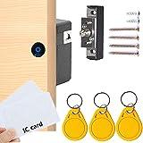 Electronic Cabinet Lock, RFID Electronic Cabinet Lock, Hidden DIY Lock, Electronic Sensor Lock, Punch-Free, Locker Lock, Ward