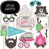 Let's Go Glamping - Photo Booth Props Kit - 20 Count [並行輸入品]