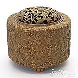 高岡銅器 香炉 菊華香炉 古銅色