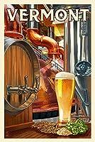 バーモント州の橋–The Art of Beer 9 x 12 Art Print LANT-55401-9x12