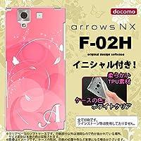 F-02H スマホケース arrows NX ケース アローズ NX ソフトケース イニシャル バタフライ・蝶(A) ピンク nk-f02h-tp202ini D
