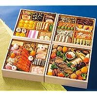 富山 五万石千里山荘 おせち料理 2019 与段重 52品 盛り付け済み 冷蔵おせち お届け日:12月31日