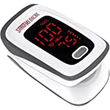 Santamedical Fingertip Pulse Oximeter, Blood Oxygen Saturation Monitor (SpO2) with Pulse Rate Measurements and Pulse Bar Grap
