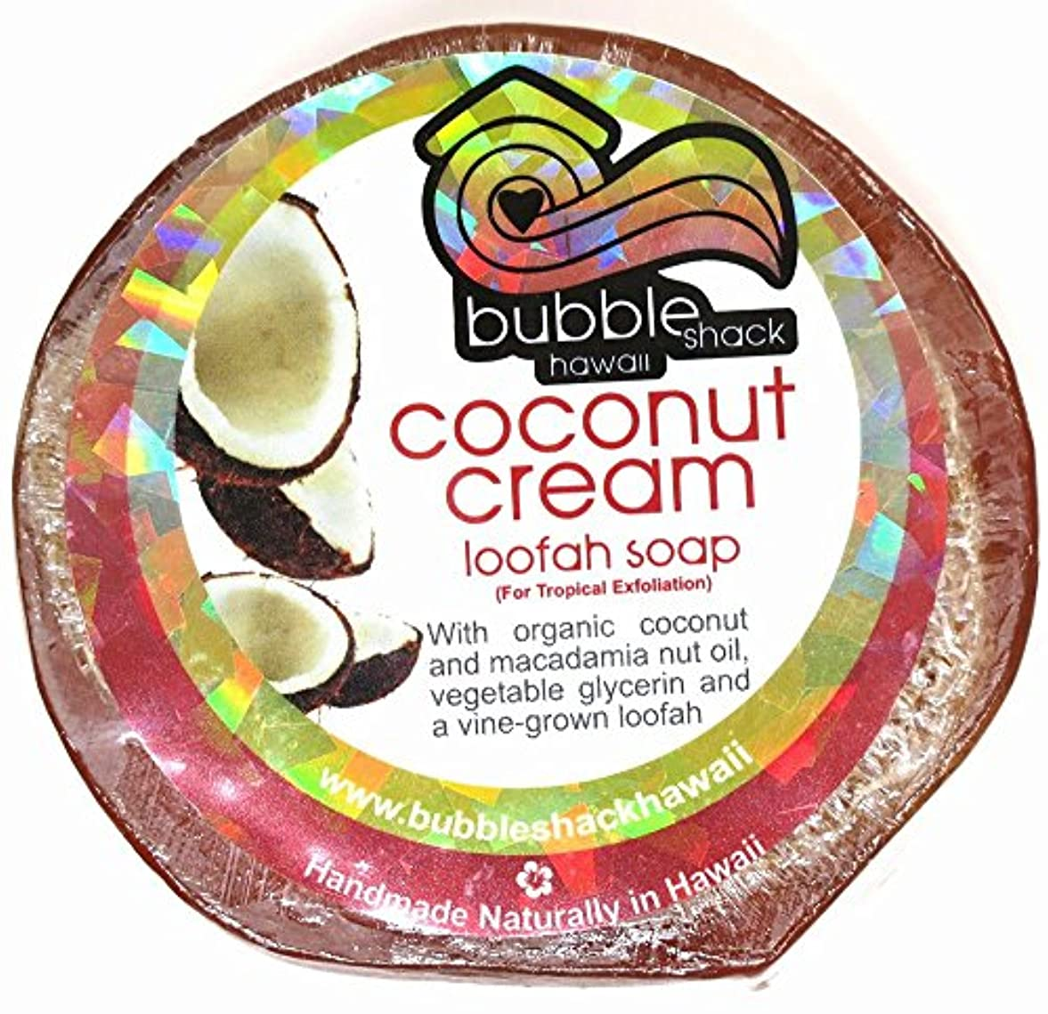 六タイムリーなマウンドハワイアン雑貨/ハワイ 雑貨【バブルシャック】Bubble Shack Hawaii ルーファーソープ(ココナッツクリーム) 【お土産】