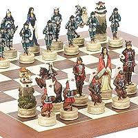 Japanese Samurai Chessmen & Stuyvesant Streetチェスボードfrom Spain
