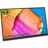 Coekea 14インチモバイルモニター 4K解像度 3840*2160 モバイルディスプレイ Adobe RGB 100%色域 IPSパネル 狭額デザイン 薄型 軽量 USB Type-C/HDMI/Mini DP スタンド付