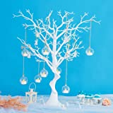 Sziqiqi White Artificial Tree for Tree Centerpiecefor Weddings Christmas Birthday Party Home Indoor Outdoor Decoration 30 inc