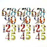 ステッカー 「数字」 スクラップブッキング キッズ mini 1 - 0 六点セット