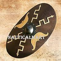 NAUTICALMART木製楕円形Roman Shield