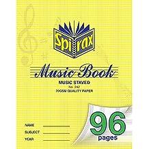 SPIRAX Ruled Spirax 242 70gsm Music Book, 96 Pages, (55242)