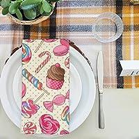 artzfolio Yummy Lollipop Candyテーブルナプキンサテン生地 16inch x 16inch; SINGLE PIECE AZKIT37640098NAP_TB_L_01-S1_SN