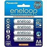 Panasonic AA Ni-MH, RTU Eneloop Pre-charged AA Rechareable Battery 4 Pack, (BK-3MCCE/4BA)