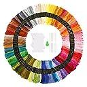 刺繍糸 SOLEDI 刺繍糸セット150色 クロスステッチ糸 ミサンガ 刺繍針 糸巻き 糸通し 150束6本綴 900本 レインボーカラー