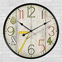 壁時計 スタイリッシュな大胆な古典的なクォーツ大壁時計非刻々としたサイレントリビングルームアンティーク壁時計装飾的な壁時計壁クォーツ時計
