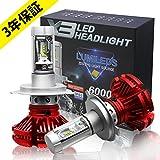 Colight LEDヘッドライトバルブ H4 H11 H7 9005 9006 Philips ZESチップス採用 3000k/6500K/8000k再設定可能 2個セット 3年保証 赤い色 (H4)