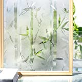 Homein Frosted Window Film for Glass Privacy Decorative Film Bamboo Window Films 35.4In. By 78.7In. (90 x 200Cm) [並行輸入品]
