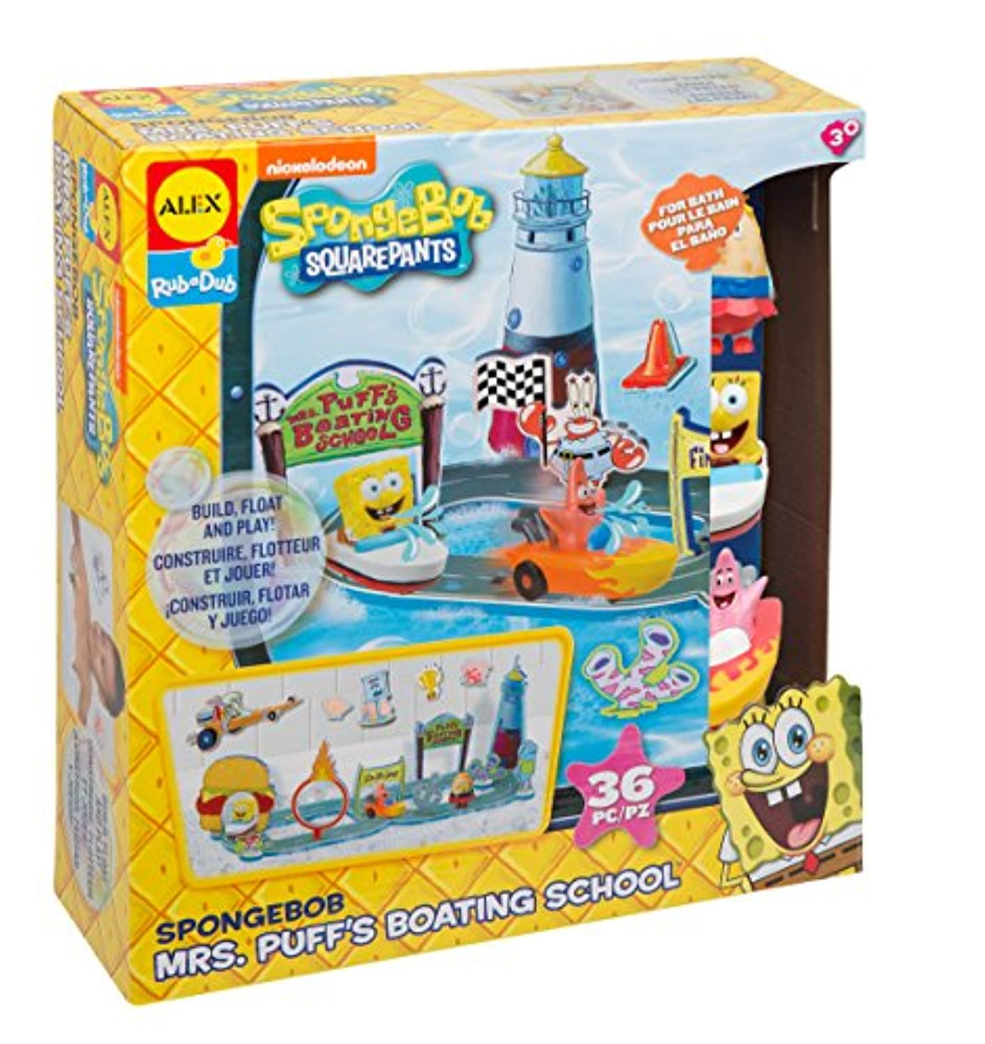 Spongebob Mrs。Puff 's Boating School Tub Playset