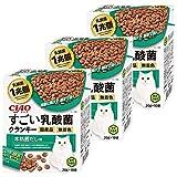 チャオ (CIAO) ドッグフード すごい乳酸菌クランキー 本格鰹だし味 20g×10袋×3個 (まとめ買い)