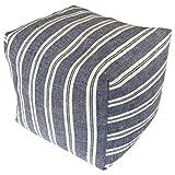 コージカンパニー 枕 ネイビー 16×16×16cm 備長炭セラミック テレビ枕 ストライプ 120104