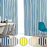 お部屋スッキリ!ストライプ 柄 遮光カーテン 「STRIPE ストライプカーテン」 オーダーカーテン 形態安定加工 サイズ:(幅)100×(丈)120cm×2枚入 色:ストライプYE / Aフック