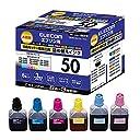 エレコム 詰め替えインク エプソン IC6CL50対応 6色セット 3回分 THE-50KITN