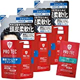 【Amazon.co.jp限定】PRO TEC(プロテク) 頭皮ストレッチ シャンプー 詰め替え (医薬部外品) 230g×3個パック+デオドラントソープ1回分付