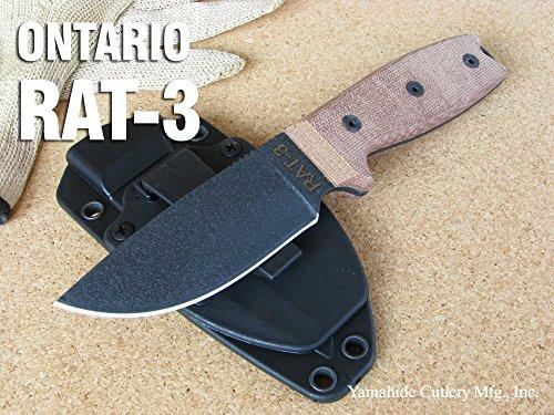 オンタリオ ナイフ #8630 RAT-3 1095カーボンスチール /ブラック直刃 【日本正規品】