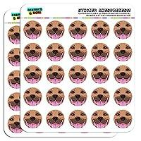"""ピットブル面Fawnペット犬1"""" Plannerカレンダースクラップブック工芸ステッカー ホワイト 091716SCRAP.STICK01.07295"""