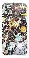 iPhone SE TPU ソフトケース 1266 砂絵 夜 素材ホワイト