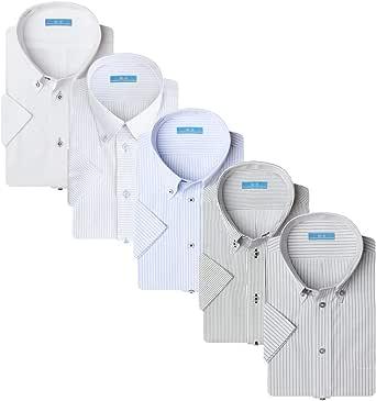 [アトリエサンロクゴ] ワイシャツセット 半袖 ワイシャツ 5枚セット 形態安定 クールビズ メンズ イージーケア 豊富なデザイン sa02